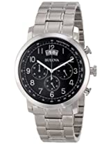 Bulova Classic Analog Black Dial Men's Watch - 96B202