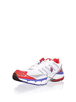K-SWISS Men's Keahou II Running Shoe (White/Olympian Blue/Red)