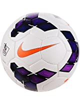 Nike Strike Football, Size 5 (White/Purple)