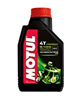 Motul 104080 5100 4T Hybrid 15W-50 Petrol Engine Oil for Bikes (1 L)