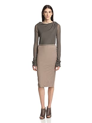 Rick Owens Lilies Women's Seamed Skirt (Flesh)
