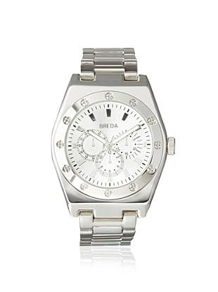 Breda Men's 8149 Silver-Tone Logan Bold Bezel Metal Watch