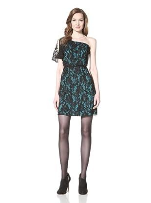 Miss Sixty Women's Avery Lace One-Shoulder Dress (Green)