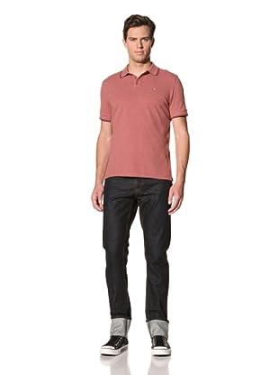 John Varvatos Star USA Men's Short Sleeve Pique Polo (Faded Rose)