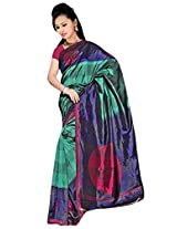Kothari Printed Saree (VS009170MC_Green)