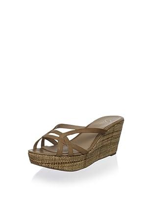 Delman Women's Chaya Platform Sandal (Almond)