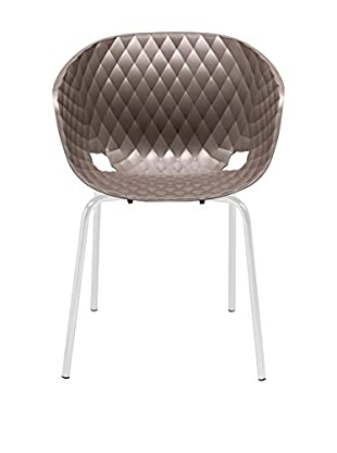Metalmobil Sessel 2er Set Unika-594 kaffee/weiß