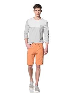 Marshall Artist Men's Cut-Down Cotton Twill Jeans (Burnt orange)