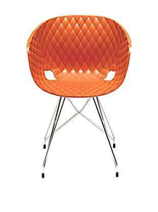 Metalmobil Stuhl Unika-596 orange/chrom