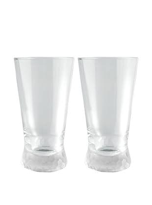 Artland Set of 2 Presscott Frosted Base 17-Oz. Highball Glasses