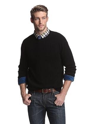 Kokun Men's Waffle Pullover Sweater (Black)