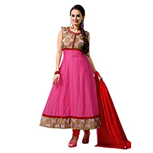 Traditional 2 Trendy CC1010 Anarkali Suit - Pink