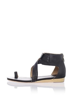 Fiel Women's Padang Toe Ring Sandal (Black)