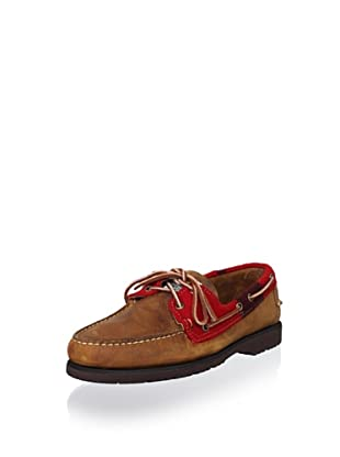 Sebago Men's Filson Dillenbeck Loafer (Brown/Red/Black Wool)