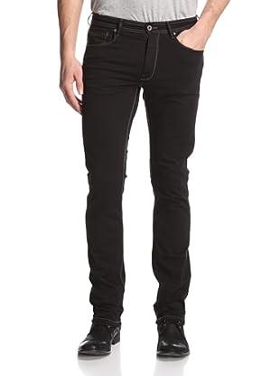 Rockstar Denim Men's Slim Fit 5 Pocket Twill Pants (Black)