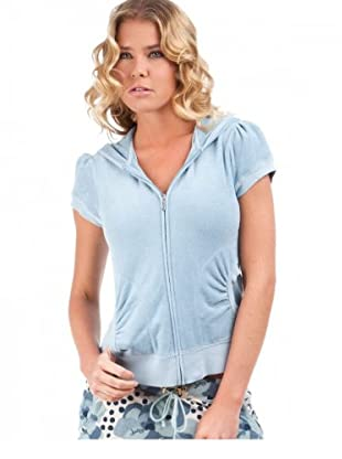 Juicy Couture Kapuzensweater kurz (Himmelblau)