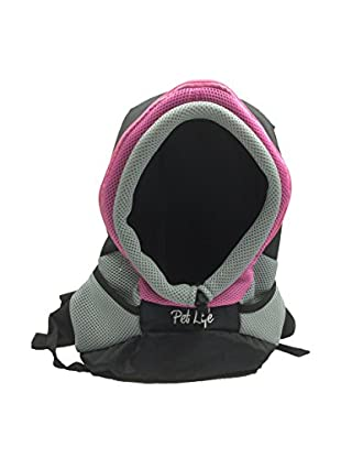 Pet Life Bark-Pack On-The-Go Supreme Travel Backpack Pet Carrier, Pink, Medium