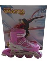 Elan with LED Wheels In-line Skates - Size 31-42 Euro - Pink