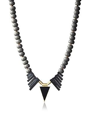 David Aubrey Beaded Triangle Pendant Necklace