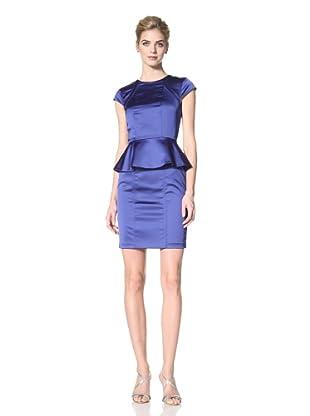 Marc New York Women's Cap Sleeve Peplum Dress (Hyacinth)