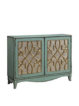 Coast to Coast Lattice 2-Door Cabinet, Aqua