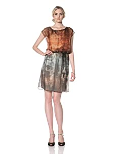 Natori Women Printed Silk Dress (Multi)