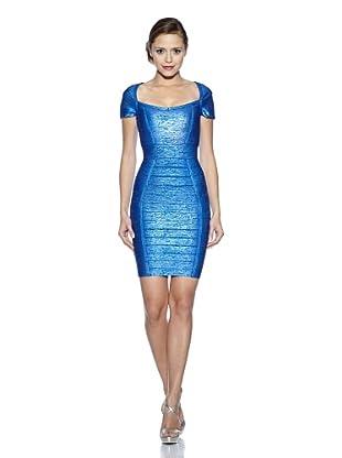 Corizzi & Absolu Vestido Gran Escote Bandas Cóctel (Azul)
