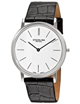 "Stuhrling Original Men's 601.33152 ""Classic Ascot"" Stainless Steel Watch with Leather Band"
