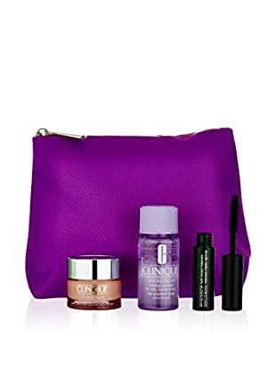 Clinique Beauty-Set All About Eyes Crm 15 ml + Mask 3.5 ml + Day Off 30 ml