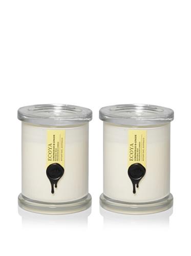Ecoya Set of 2 Lemongrass & Ginger 9.5-oz. Metro Jars