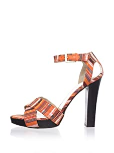 Chelsea Paris Women's Bardo Crisscross Sandal (Orange Kente)