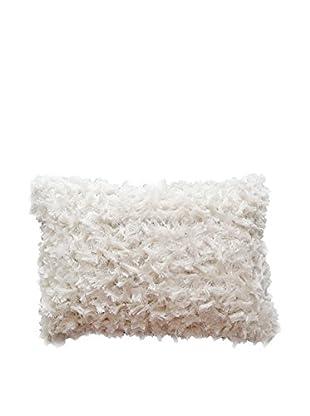 Cloud 9 Bow-Shaped Shag Lumbar Pillow, Ivory