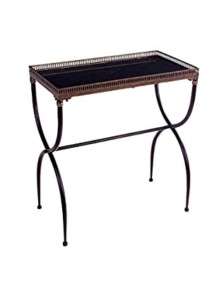 Rectangular Cross-Leg Accent Table, Black