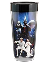 Vandor 99051 Star Wars 16 oz Plastic Travel Mug, Multicolor