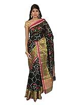 Mistyque Black Banarasi silk saree with intricate weaving