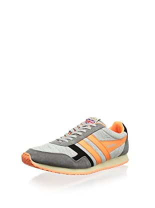 Gola Men's Spirit Jersey Sneaker (Grey/Neon Orange/Black)