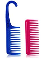 Vega Detangling Combs with and without Handle, 2 Piece