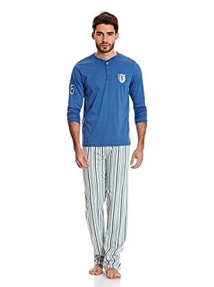 Bluedreams Pijama Caballero P Liso (Azul)