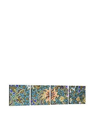 Dekorjinal Set, 4-teilig dekoratives Bild Tas041 (mehrfarbig)