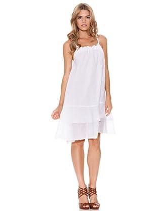 Peace & Love Vestido Liso (blanco)