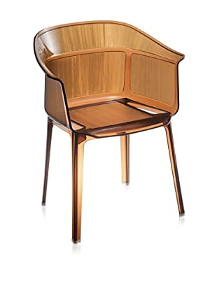 Zuo Set of 4 Allsorts Dining Chairs, Transparent Brown