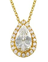 Exxotic Designer Silver 24k Gold Plated Birth Stone Pendant For Girls & Women