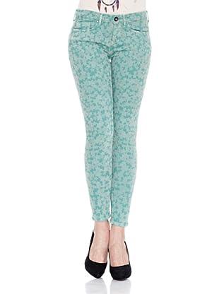 Pepe Jeans London Pantalón Starburst (Verde Claro)