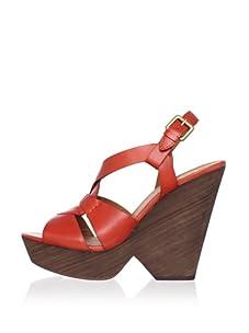 Ash Women's Roxy Bis Figure 8 Wedge Sandal (Orange)