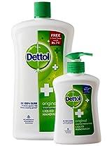 Dettol Liquid Soap, Original - 900 ml with Free Dettol Liquid Soap Pump - 215 ml