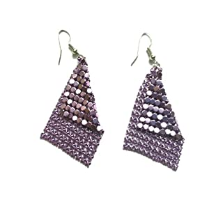 Casual Chic Disco earrings, Violet