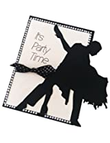 Dancer Silhouette Invitations - 25 pack
