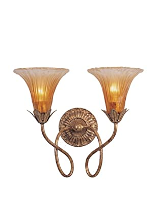 Gold Coast Lighting Mouth Blown Glass Gold Leaf Sconce