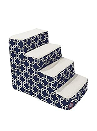 Majestic Pet 4-Step Stairs, Navy Blue Links
