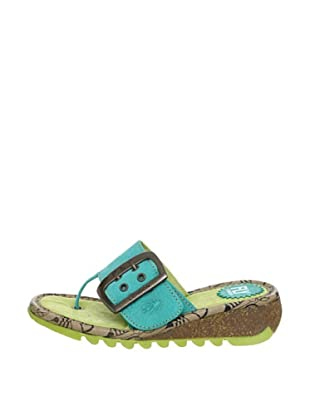 Fly London Sandalias Trin (Verde Agua)